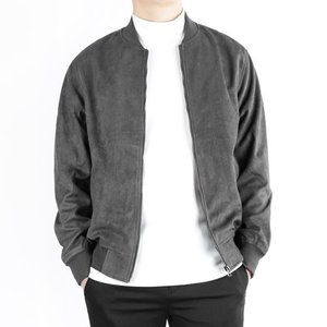 TRMARK SUEDE BLOUSON CHARCOAL